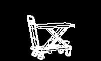 Mesas Elevadoras c/ Rodas