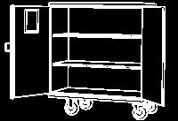 Carros Armário em Alumínio